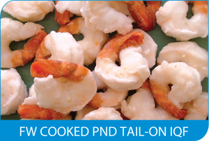 FW COOKED PND TAIL-ON IQF